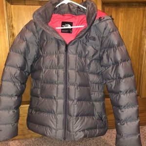 Women's Gray North Face Puffer Coat